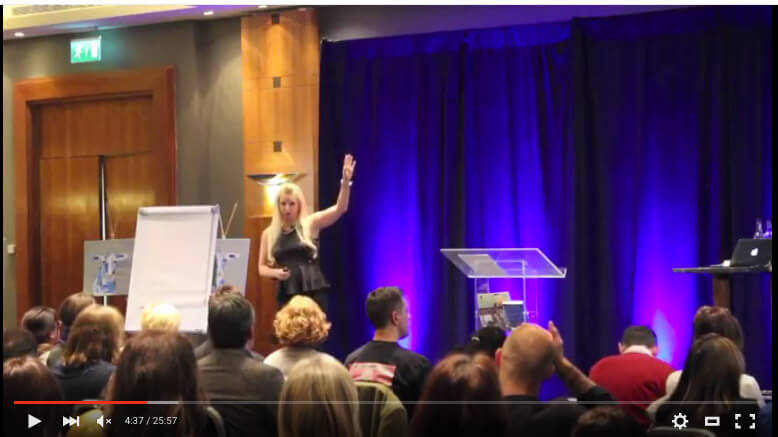 Dr. Krista speaks to a group of 200 doctors on the importance of becoming the Go To Expert.